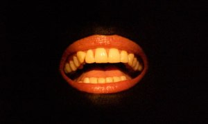 Lisa Dwan as the mouth in Not I, by Samuel Beckett